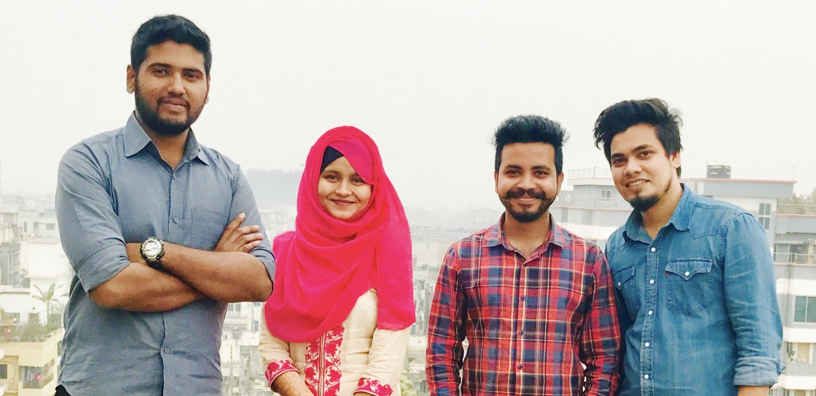 Members of Chattermill at Hubdhaka rooftop