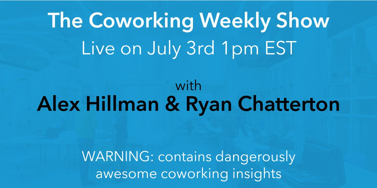The Coworking Weekly Show with Alex & Ryan Cover