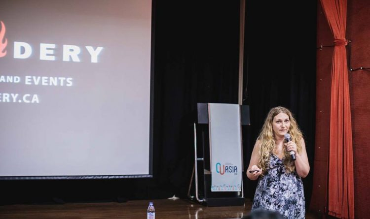 Ashley Proctor talking about Community at Coworking Unconference Asia