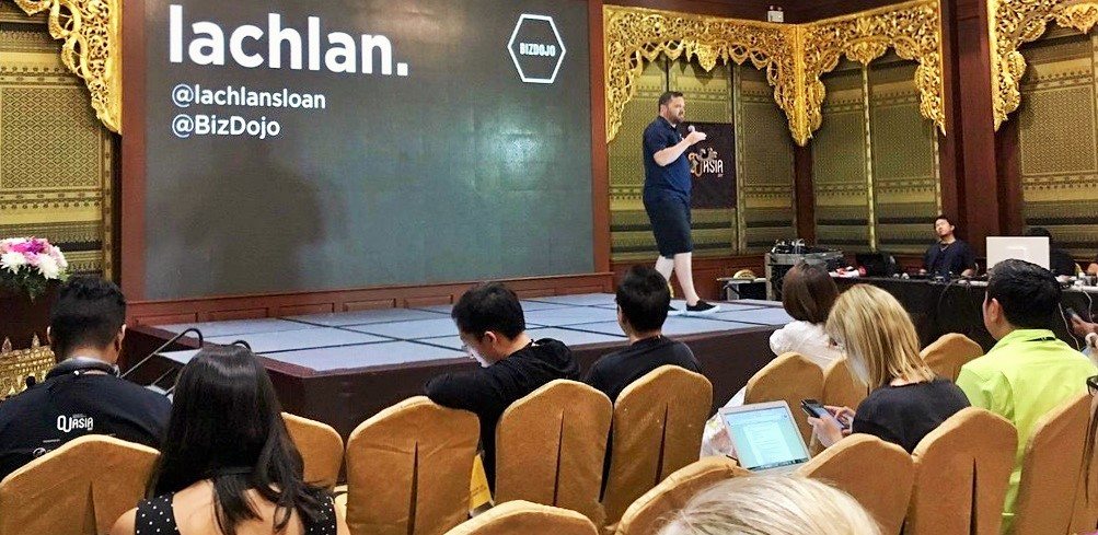 Lachlan Sloan speaking at the Unconference in CUAsia 2017