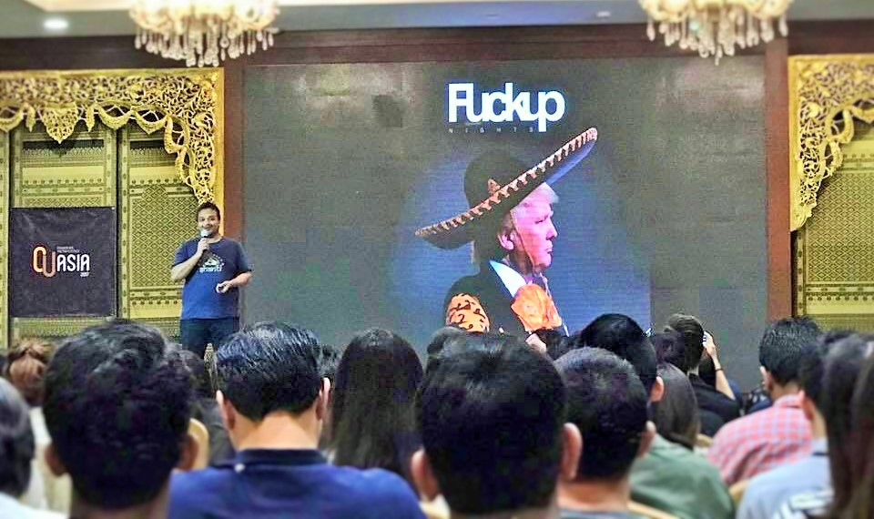 Ashish Goenka hosted a special session on Fckup nights at CUAsia-17